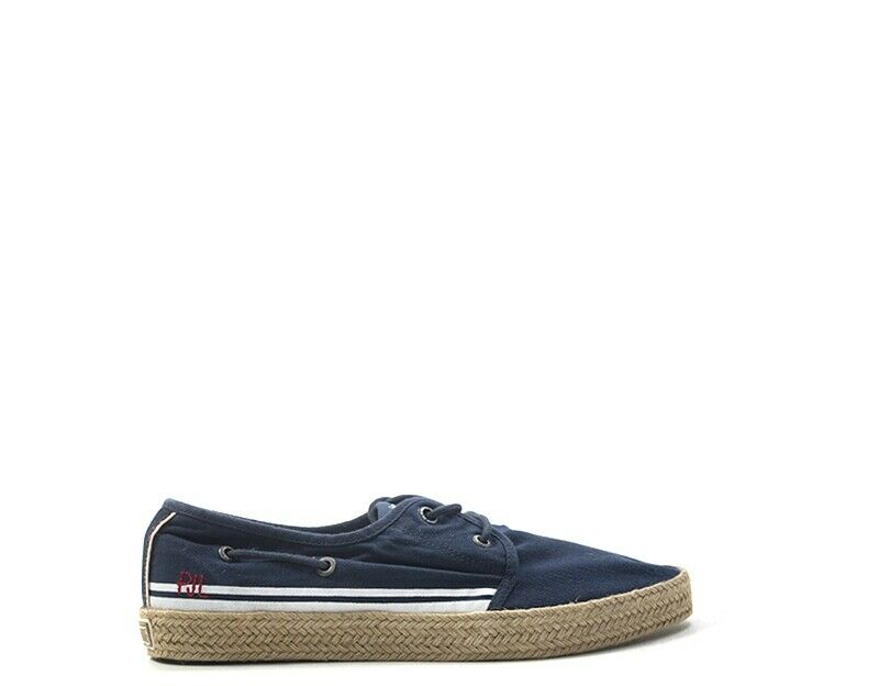 zapatos PEPE JEANS hombres zapatillas trendy  azul Tessuto PMS10232-595