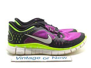 958d33b60ac2a Women s Nike Free Run+ 3 Laser Purple Volt Black Running Shoes ...