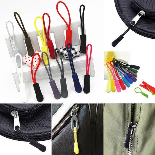 10pcs Zipper Head Drawstring Plastic Zip Fastener Puller Cord Zippers Outdoor