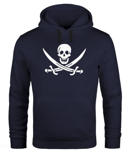 uomo con cappuccio con Pirate Calico Jolly di Roger Felpa cappuccio carnevale da Pullover Skull vRtWnxqqZ