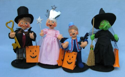 2019 6 ANNALEE HALLOWEEN TRICK OR TREAT WIZARD OF OZ KIDS - SET OF 4 -  NEW