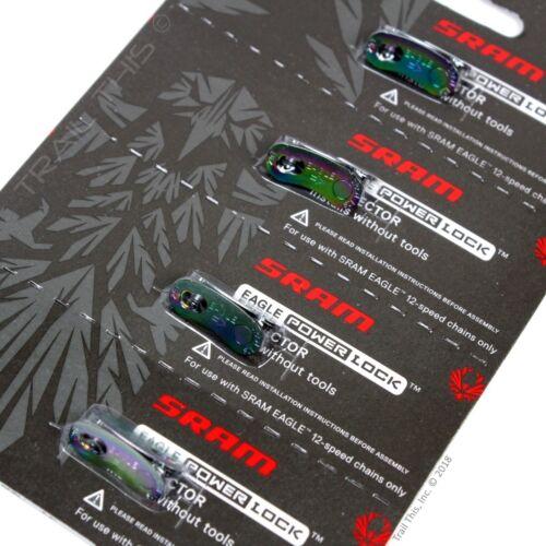4 x SRAM 12-Speed PowerLock Bike Chain Link Rainbow fit GX XX1 X01 Eagle Chains