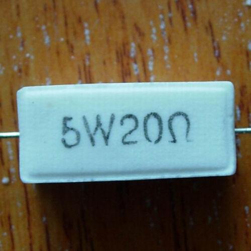 cerámica 1 x Resistencia 20 Ohm 5W 5/% cemento