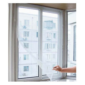 White-Large-Window-Screen-Mesh-Net-Insect-Fly-Bug-Mosquito-Moth-Door-Netting-New