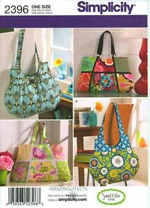 Simplicity-Pattern-2396-Bags-Purse-Tote-Handbag-sewing-sweet-pea-totes
