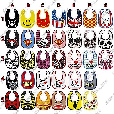 Cute Baby Bib Designs - Kids Infant Boy Girl Clean Feeding - Superbaby & More