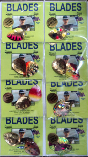 Assorted Custom #4 Colorado Gold-Plated Blades 3 blades per pack #BL 8 Packs