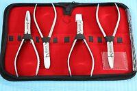 Premium Grade Set Of 4 Each Optician Optical Pliers,eyeglasses Tool Set