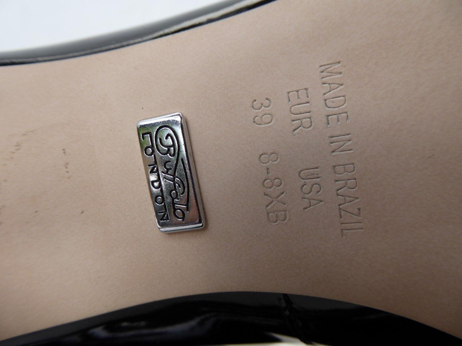 BUFFALO London escarpins CUIR CUIR escarpins vernis noir sexy t 39 PARFAIT ETAT e01d1f