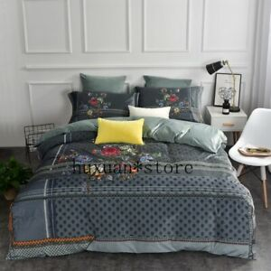 Flannel-Classics-Bedding-Set-Fleece-Duvet-Cover-Sheet-Pillowcases-King-Size-4pcs