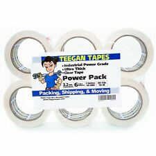 Clear Packing Tape 6 Pack Power Grade Strongest Tape On The Market 32 Mil