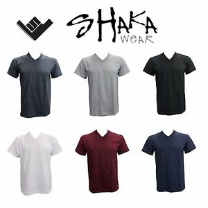 Men v neck t shirt shaka plain heavy material multi color for 100 cotton v neck t shirts wholesale