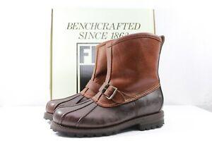 FRYE-Warren-Duck-Engineer-Boot-Shearling-Espresso-Brown-NEW-398-Retail-Size-8-5