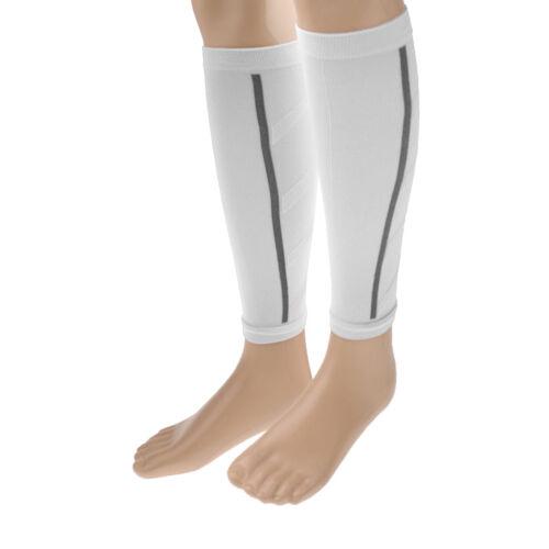 1 Pair Shin Splints Wrap Leg Support Brace Calf Compression Sleeves White