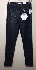 Novo Com Etiquetas Ymi Tamanho L Preto Com Chita Animal Print High Rise Skinny Tornozelo Jeans Ebay
