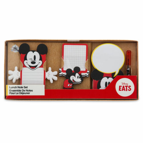 Disney Store Mickey Mouse Lunch Note Set Disney Eats Icon New in Box