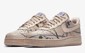 Detalles de Nike Air Force 1'07 Lux 'salpicaduras de color beige' 898889 202 UK 8.5 EU 43 28cm Nuevo ver título original