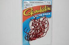 gamakatsu 1/0 offset ewg shank worm red bass hook 25 hooks 58311-25 value pack