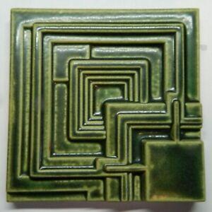 "FRANK LLOYD WRIGHT Motawi Tileworks ENNIS HOUSE Art Tile  6"" x 6"""