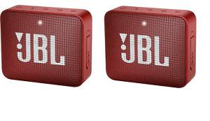 SET OF 2!! JBL Go 2 Portable Bluetooth Speaker - Red JBLGO2REDAM