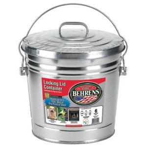 Behrens-6106-Galvanized-Steel-Locking-Lid-Can-Pail-6-Gallon