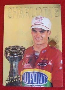Rare Jeff Gordon 1994 Prototype Action Packed Charlotte Winner Card 24K Gold