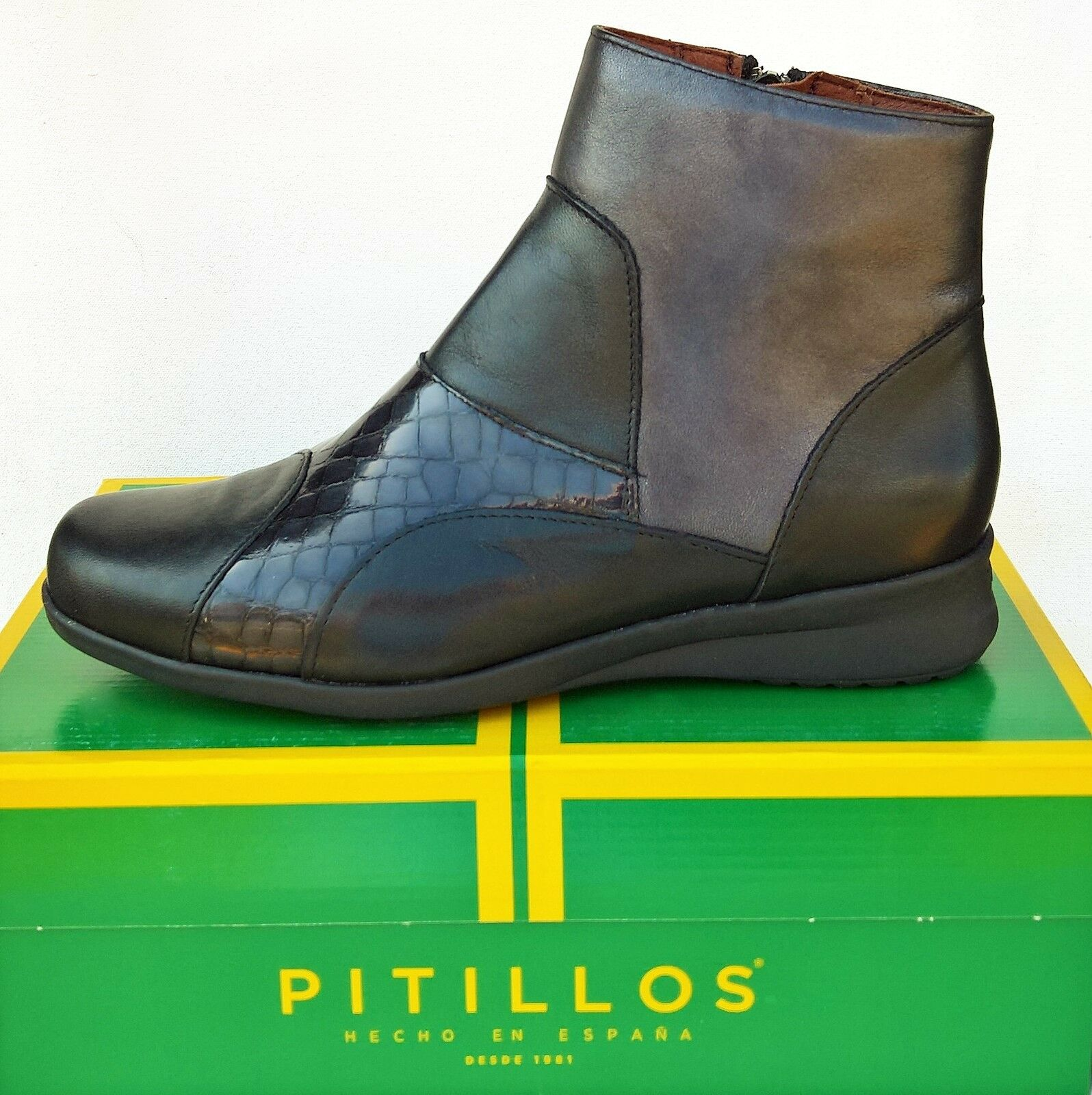 Boots leather comfort - Pitillos Shoes 2405 - Made in Spain !