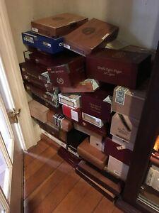 50-verschiedene-Holz-Zigarrenkiste-Sammlung-Lot
