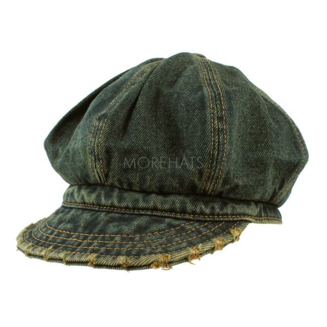 Unisex Mens Womens Daily Jean Newsboy Cap Cabbie Slouchy Vintage 100% Cotton Hat