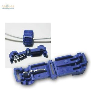 50 Schnellverbind<wbr/>er für Kabelschuhe BLAU 1,5-2,5mm² Stromdiebe Klemmverbinder