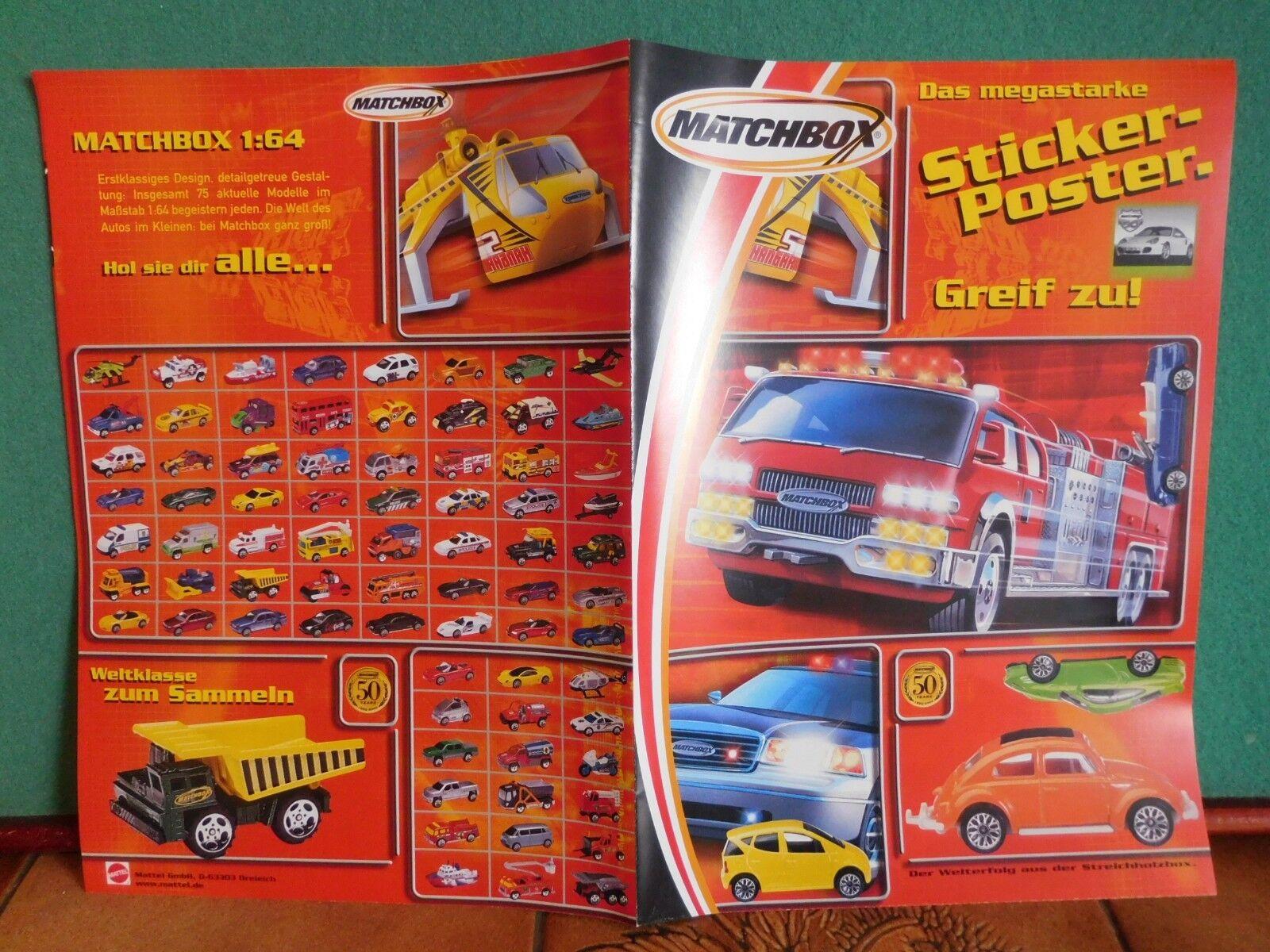 50 years Matchbox 2002 sticker sticker sticker póster póster folleto modellbau maquetas de coches  precio mas barato