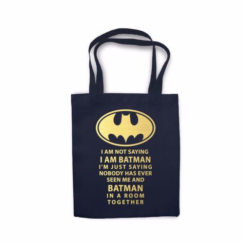 Batman Funny Quote Comic Book Movie Nerd Geek Tote Shopping Bag Cotton gift