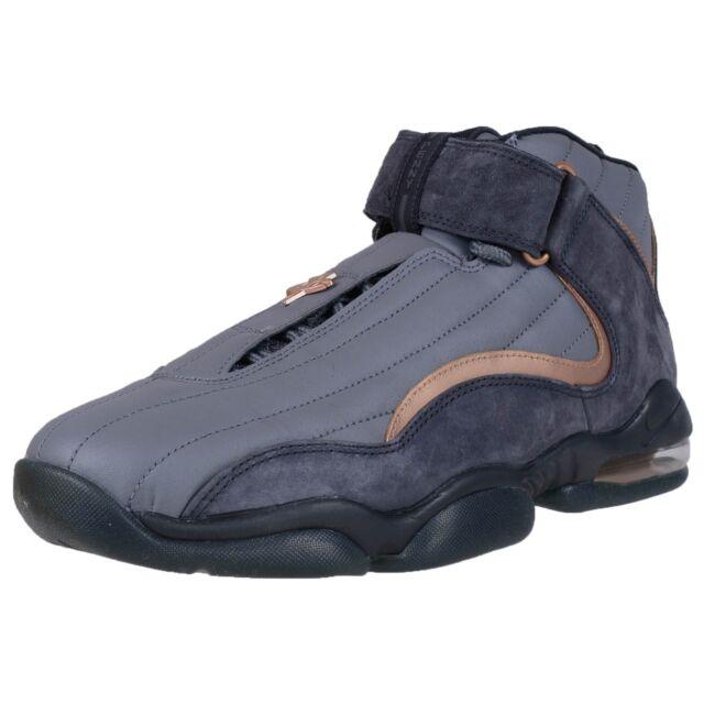 Nike Air Penny IV Wolf Grey Metallic Copper Mens Basketball 864018 002