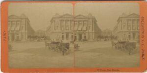 Parigi Place Da La Concorde Rue Royale Francia Foto - Vintage Albumina c1885
