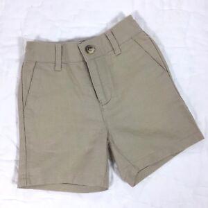 JANIE AND JACK Baby Boys Khaki Shorts Size 3-6 Months Linen Cotton EUC