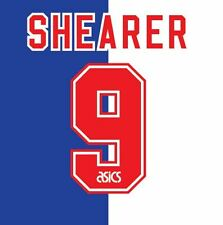 No 9 Shearer Blackburn Rovers Home 1995-1996 Football Nameset for shirt