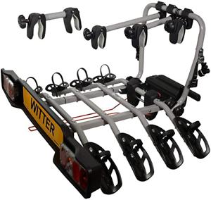 Witter-ZX304EU-Fahrradtraeger-fuer-Anhaengerkupplung-AHK-fuer-4-Fahrraeder-abklappbar