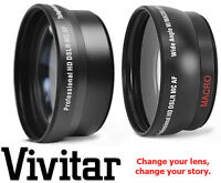 Pro Hd Wide Angle & Telephoto Lens For Sony Dslr-a580l Dslr-a580
