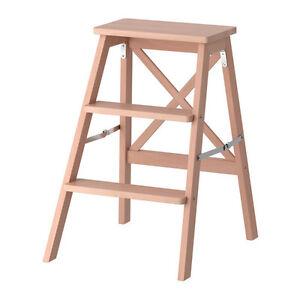 Sedie Da Regista In Legno Ikea.Pouf Sgabello Scaletto In Legno Poltrona Design Sedia Poggiapiedi