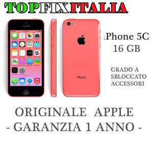APPLE-IPHONE-5C-16GB-ROSA-GRADO-A-ORIGINALE-RICONDIZIONATO-GARANZIA-ACCESSORI