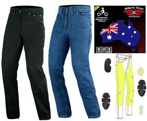 Australian-Bikers-Gear-Men-039-s-Motorcycle-Jeans-Trouser-Lined-with-KEVLAR-Fibre
