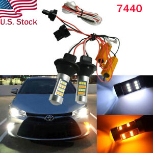 Error-Free-Switchback-LED-Bulbs-Turn-Signal-Light-DRL-For-2010-2019-Toyota-Camry