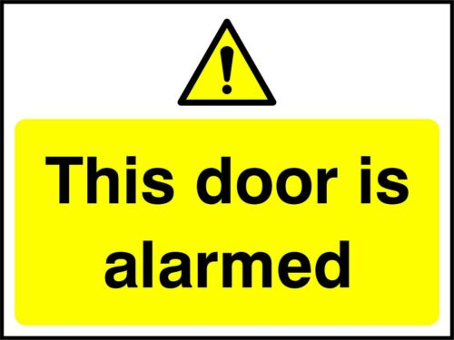 SAFETY SIGN Premises Security Self Adhesive Waterproof Exterior Vinyl Sticker