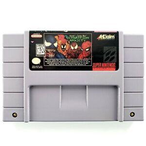 Venom-Spider-Man-Separation-Anxiety-Super-Nintendo-1995-Authentic-Tested