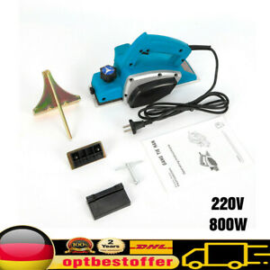 800W Elektrohobel Hobel Elektrisch Handhobel Balkenhobel Stufen Hobel 82 mm 220V