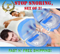 Set Of 2 & Fast Shipping>stop Snoring 1 Mouthpiece Sleep Adjustable Mouthguard