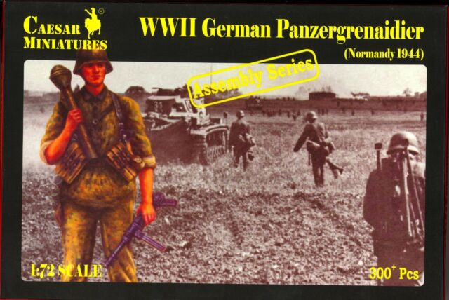 Caesar Miniatures 1/72 GERMAN WWII PANZERGRENADIERS NORMANDY 1944 Figure Set