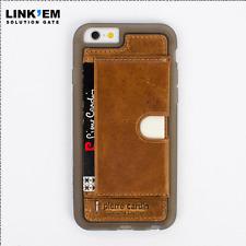 Estuche De Cuero Genuino Pierre Cardin permanente de iPhone 6/6 splus con porta tarjeta