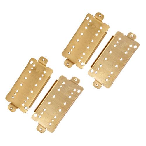 4 Stück 52mm E Gitarren Tonabnehmer Humbucker Grundplatte Messing DIY Kits