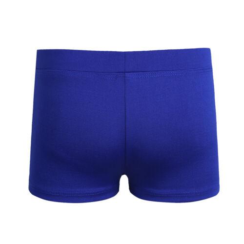 Kid Girl Boy-Cut Elastic Shorts Gymnastics Ballet Dance Bottoms Sports Underwear